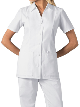 Picture of Cherokee Fashion Solids Women's Button Front Top